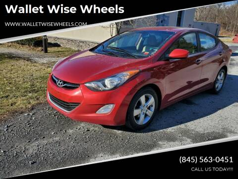 2012 Hyundai Elantra for sale at Wallet Wise Wheels in Montgomery NY