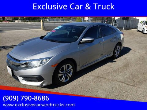 2016 Honda Civic for sale at Exclusive Car & Truck in Yucaipa CA