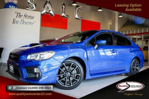 2019 Subaru WRX for sale at Quality Auto Center of Springfield in Springfield NJ