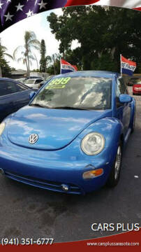 1999 Volkswagen New Beetle for sale at Cars Plus in Sarasota FL