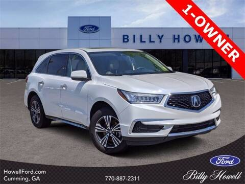 2018 Acura MDX for sale at BILLY HOWELL FORD LINCOLN in Cumming GA