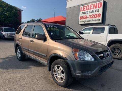 2003 Honda CR-V for sale at Legend Auto Sales in El Paso TX