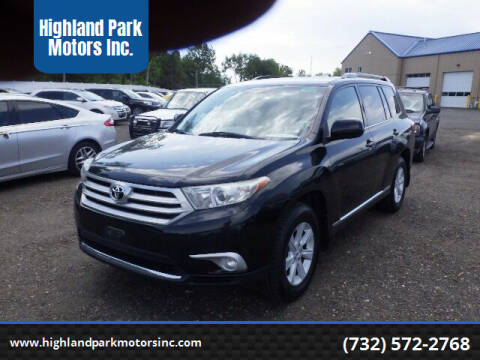 2012 Toyota Highlander for sale at Highland Park Motors Inc. in Highland Park NJ