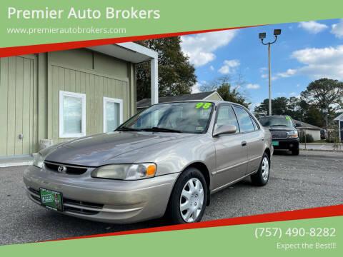 1998 Toyota Corolla for sale at Premier Auto Brokers in Virginia Beach VA