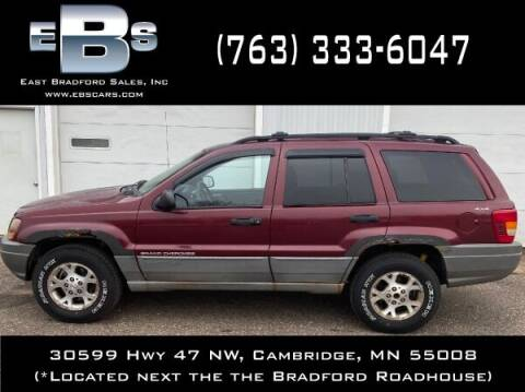1999 Jeep Grand Cherokee for sale at East Bradford Sales, Inc in Cambridge MN