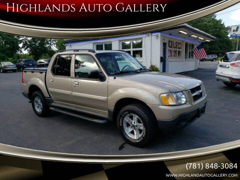 2005 Ford Explorer Sport Trac for sale at Highlands Auto Gallery in Braintree MA