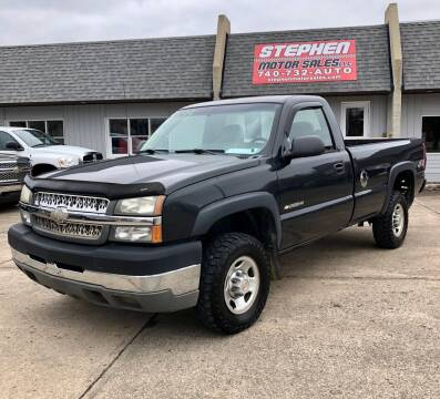 2003 Chevrolet Silverado 2500HD for sale at Stephen Motor Sales LLC in Caldwell OH