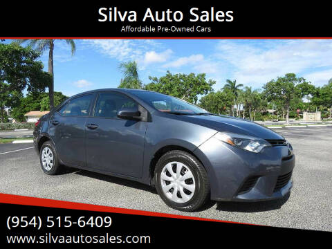 2014 Toyota Corolla for sale at Silva Auto Sales in Pompano Beach FL