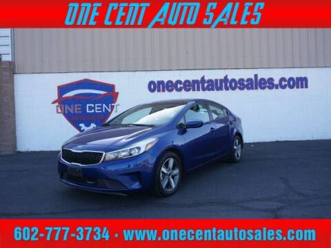 2018 Kia Forte for sale at One Cent Auto Sales in Glendale AZ
