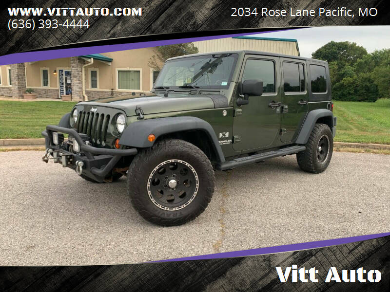 2009 Jeep Wrangler Unlimited for sale at Vitt Auto in Pacific MO