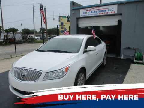 2010 Buick LaCrosse for sale at K & V AUTO SALES LLC in Hollywood FL