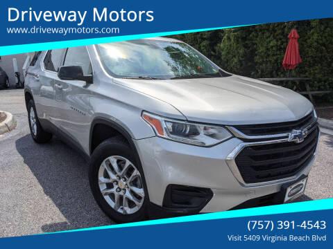 2018 Chevrolet Traverse for sale at Driveway Motors in Virginia Beach VA