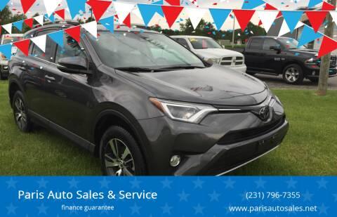 2018 Toyota RAV4 for sale at Paris Auto Sales & Service in Big Rapids MI