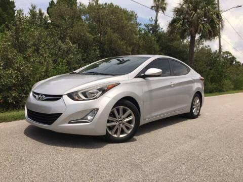 2015 Hyundai Elantra for sale at VICTORY LANE AUTO SALES in Port Richey FL