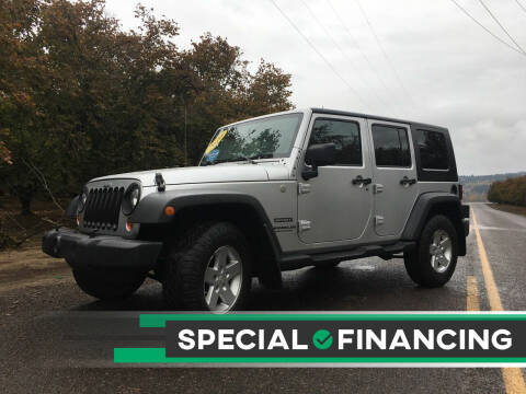 2010 Jeep Wrangler Unlimited for sale at M AND S CAR SALES LLC in Independence OR