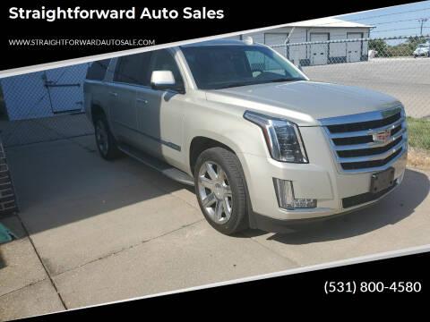 2015 Cadillac Escalade ESV for sale at Straightforward Auto Sales in Omaha NE