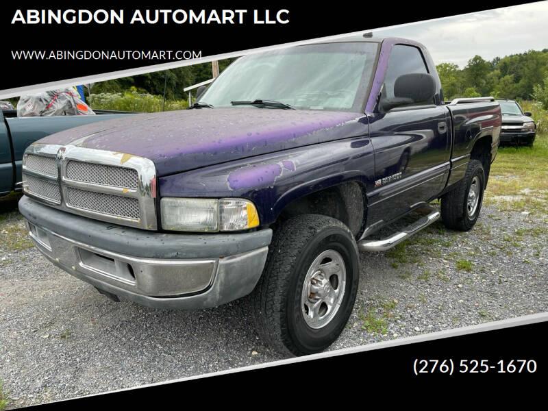 1998 Dodge Ram Pickup 1500 for sale at ABINGDON AUTOMART LLC in Abingdon VA