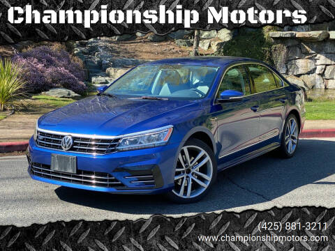 2017 Volkswagen Passat for sale at Championship Motors in Redmond WA