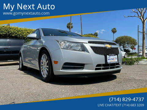 2012 Chevrolet Cruze for sale at My Next Auto in Anaheim CA