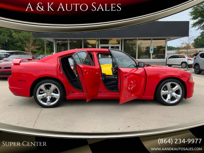 2014 Dodge Charger for sale at A & K Auto Sales in Mauldin SC