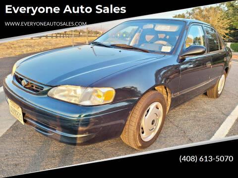1999 Toyota Corolla for sale at Everyone Auto Sales in Santa Clara CA
