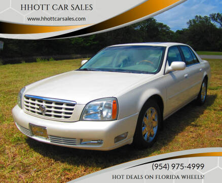 2003 Cadillac DeVille for sale at HHOTT CAR SALES in Deerfield Beach FL