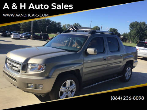 2010 Honda Ridgeline for sale at A & H Auto Sales in Greenville SC