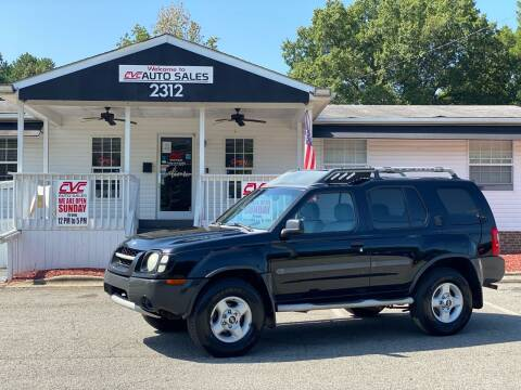 2002 Nissan Xterra for sale at CVC AUTO SALES in Durham NC