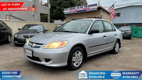 2005 Honda Civic for sale at San Diego Auto Traders in San Diego CA