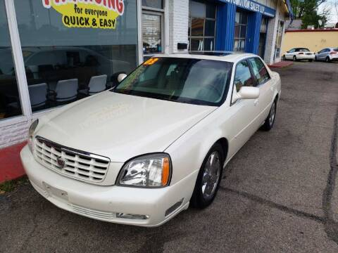 2003 Cadillac DeVille for sale at AutoMotion Sales in Franklin OH