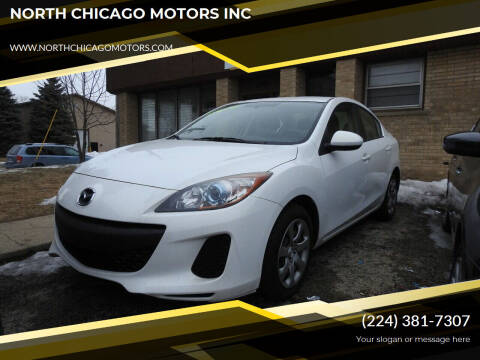2013 Mazda MAZDA3 for sale at NORTH CHICAGO MOTORS INC in North Chicago IL