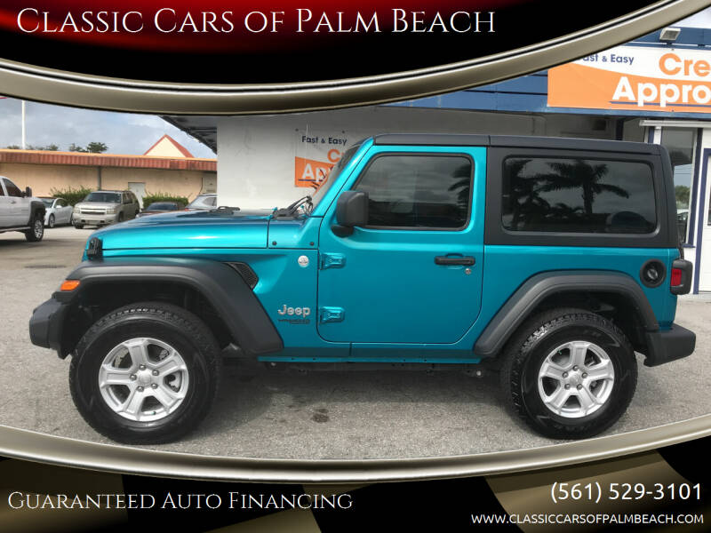 2020 Jeep Wrangler for sale at Classic Cars of Palm Beach in Jupiter FL