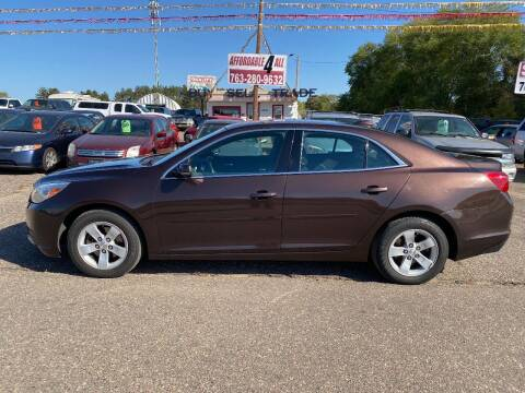 2015 Chevrolet Malibu for sale at Affordable 4 All Auto Sales in Elk River MN