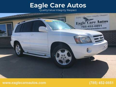 2006 Toyota Highlander for sale at Eagle Care Autos in Mcpherson KS