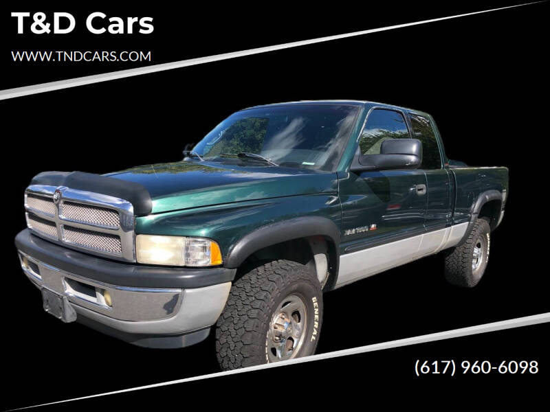 2001 Dodge Ram Pickup 1500 for sale at T&D Cars in Holbrook MA