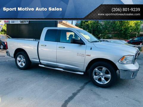 2015 RAM Ram Pickup 1500 for sale at Sport Motive Auto Sales in Seattle WA