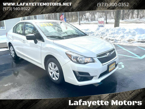2016 Subaru Impreza for sale at Lafayette Motors 2 in Andover NJ