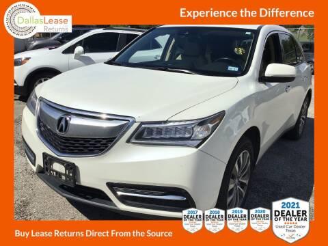 2016 Acura MDX for sale at Dallas Auto Finance in Dallas TX