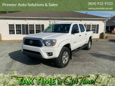 2013 Toyota Tacoma for sale at Premier Auto Solutions & Sales in Quinton VA