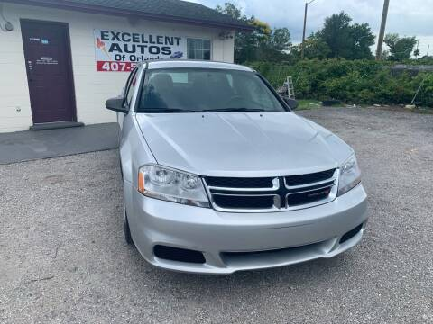 2012 Dodge Avenger for sale at Excellent Autos of Orlando in Orlando FL