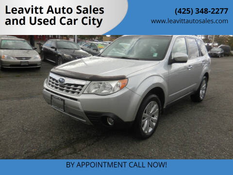 2011 Subaru Forester for sale at Leavitt Auto Sales and Used Car City in Everett WA