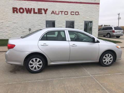 2009 Toyota Corolla for sale at Rowley Auto Co in Pierce NE
