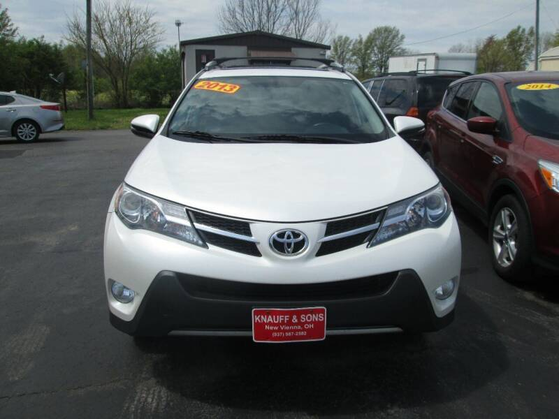 2013 Toyota RAV4 for sale at Knauff & Sons Motor Sales in New Vienna OH