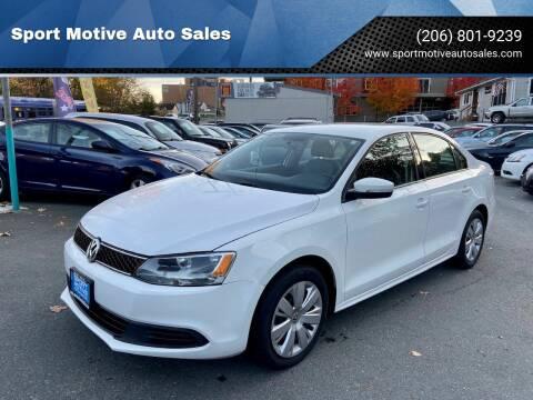 2014 Volkswagen Jetta for sale at Sport Motive Auto Sales in Seattle WA