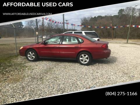 2003 Ford Taurus for sale at AFFORDABLE USED CARS in Richmond VA