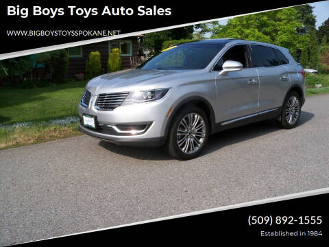 2018 Lincoln MKX for sale at Big Boys Toys Auto Sales in Spokane Valley WA