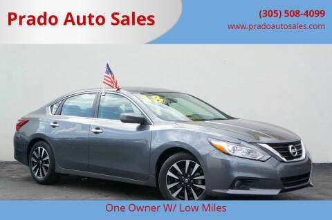 2018 Nissan Altima for sale at Prado Auto Sales in Miami FL