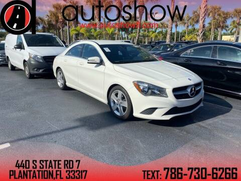 2015 Mercedes-Benz CLA for sale at AUTOSHOW SALES & SERVICE in Plantation FL