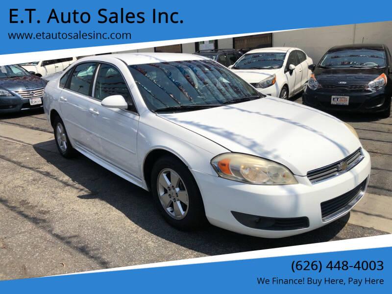 2010 Chevrolet Impala for sale at E.T. Auto Sales Inc. in El Monte CA