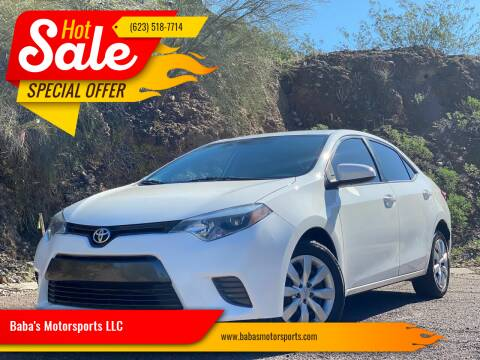 2016 Toyota Corolla for sale at Baba's Motorsports, LLC in Phoenix AZ